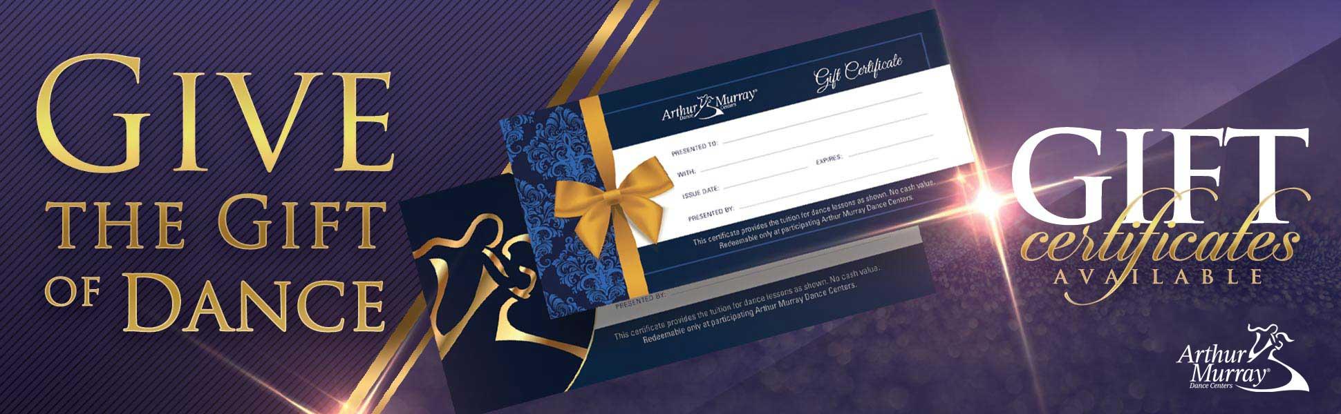 Arthur Murray Plano Gift Certificates